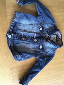 12-18 month Next girls denim jacket
