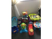 Mixture of toys + 2 baby bath seats