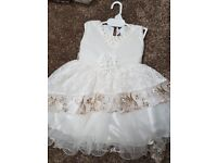 NEW 9-12 months dress IN WHITE