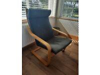 2 grey ikea rocking chairs