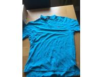 Authentic Ralph Lauren custom fit polo t-shirt,large,light blue
