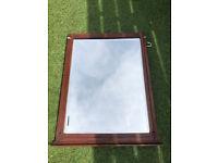 Vintage Mirror 50x70cm Dark Wood Finish