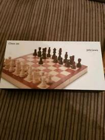 Brand new wooden chess set