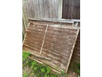 Old fence panels x4
