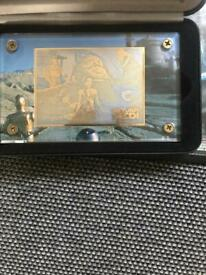 RARE 24k gold Star Wars Collectable