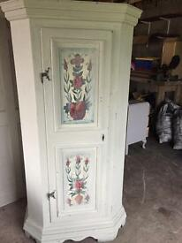 Quirky painted wardrobe