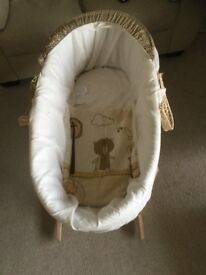 Moses basket for newborn baby; in very good condition