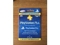 PlayStation plus 3month pass