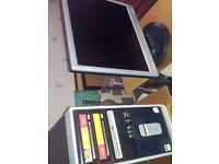compaq computer and flat screen monitor