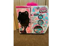 BRAND NEW, LOL OMG Winter Disco Dollie fashion doll and sister