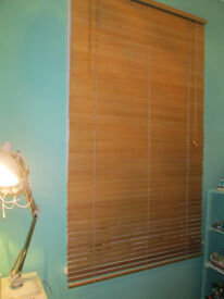 IKEA WOODEN BLIND - 3FT 3 INCHES X 5FT 5 INCHES - GOOD CONDITION