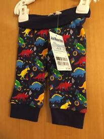 Jojo Maman Bebe dinosaur pull up trousers 0-3