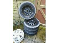 4x rims and tyres 4x100 et 45 R14