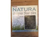 Vinyl floor tiles - black marble colour