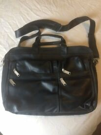 Laptop leather case bag - Can Hold upto 19inch laptop