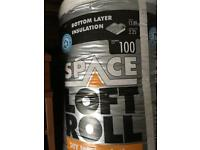 Knauf Space Loft Roll 100mm thickness bottom layer insulation