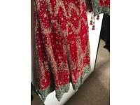 Bridal Lengha Asian Indian Pakistani Bridal Wedding Dress Red Lenga Lengha