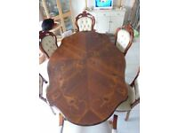 Reproduction Italian Dining Table & 6 Chairs