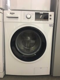 Bush WMNSX714W 7KG 1400 Spin Washing Machine - Silver