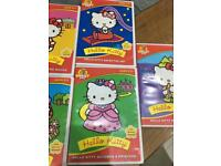 Kids DVDs hello kitty and happy cricket and piglet