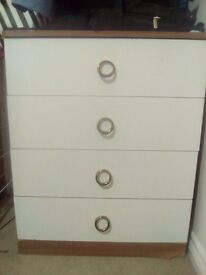 Free. White and brown chester drawer