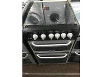 Black & silver cannon 50cm gas cooker grill & double ovens good condition with guarantee