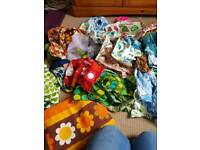 Bin liner of retro fabric great for crafts