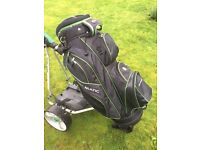 Used Stowamatic cart/trolley golf bag. Very good condition.