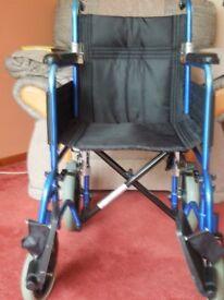Z-Tec gun metal blue wheel chair