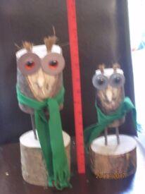 Garden Wooden Owl