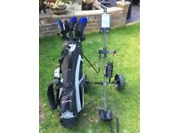 St Andrews golf clubs, bag and trolley set - good condition