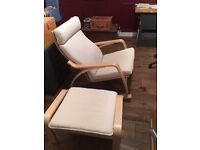 Ikea Poang Rocking Chair and Footstool