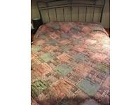 Super king size crushed velvet bedspread