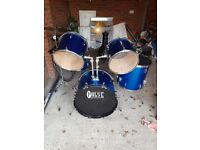 Electric Blue Pulse Precussion - Drum Kit with Silencing Pads. Negotiable price!