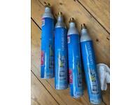 Sodastream cylinders x 4 spares (empty)