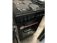 New Graded Bush 50cm Double Hardtop Electric Cooker - Black