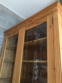 Pine Display Cabinet