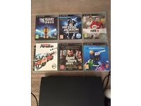 PS3 Slim with Playstation Move and Games