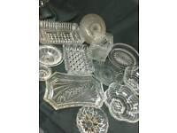 30+ items of vintage glassware, fruit/trifle bowls, trinket dishes.