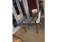 Dwell dining table and 3 chairs