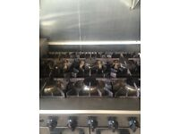 commercial 6 burner gas cooker with oven.