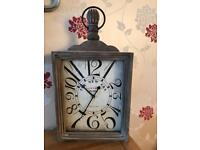 Grey brown shabby chic clock wall or stand alone the range