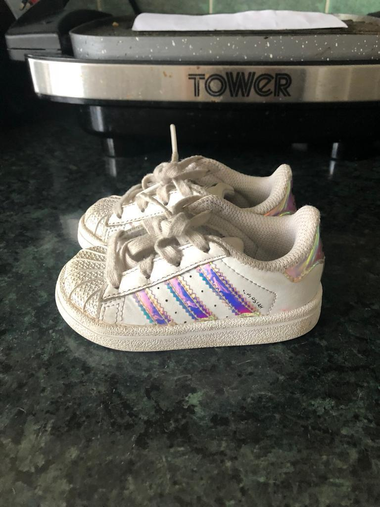 promo code 5a309 db902 Infant girls Adidas superstars size 4 | in Blackpool, Lancashire | Gumtree
