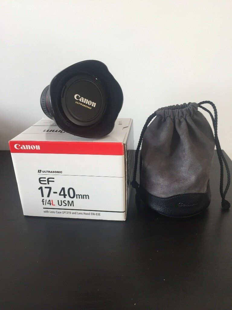 Canon 17-40 f/4L lens, Great condition