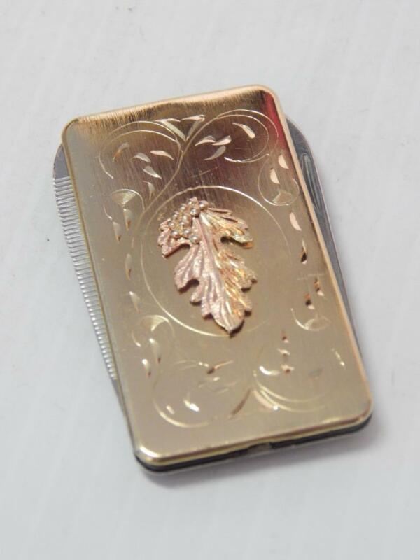 VINTAGE DOUBLE BLADE 10K BLACK HILLS GOLD + GOLD PLATED POCKET KNIFE - RARE2FIND