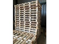 Selection of different sized pallets