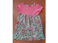 Girls floral and striped dress by Joules, 18-24 months, 92cm