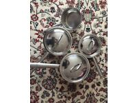 Procook 4 Stainless Steel Pan set for sale