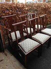 Set of 6 chairs including a carver