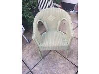 Lloyd loom style wicker chair
